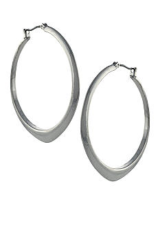 BCBGeneration Core Strength Silver Hoop Earrings