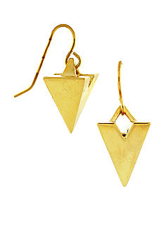 BCBGeneration Gold Pyramid Drop Earrings