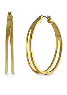 BCBGeneration Gold-Tone Hoop Earring