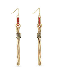 BCBGeneration Gold-Tone Golden Girl Linear Earrings