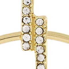 Jewelry & Watches: Bcbgeneration Fashion Jewelry: Gold BCBGeneration PAVE BAR WITH MOVABLE HOOP