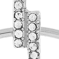 Jewelry & Watches: Bcbgeneration Fashion Jewelry: Silver BCBGeneration PAVE BAR WITH MOVABLE HOOP