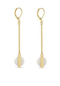BCBGeneration Gold-Tone She Sells Seashells Linear Earrings