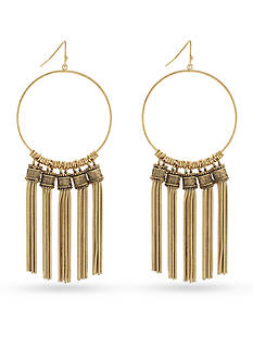 BCBGeneration Gold-Tone Golden Girl Chandelier Earrings