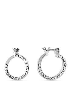 BCBGeneration Scoops of Hoops Crystal Hoop Earrings