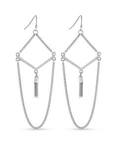 BCBGeneration Fringe Benefits V Tassel Drop Earrings