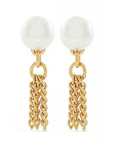 BCBGeneration Gold-Tone Who Runs The World Stud Earrings