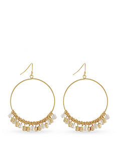 BCBGeneration Gold-Tone Natural Habitat Gypsy Hoop Earrings