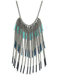 BCBGeneration Flirty Fringe Blue Drama Necklace
