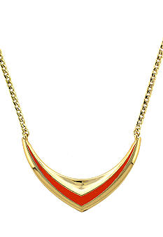 BCBGeneration Beatrix Kiddo Gold and Coral Necklace