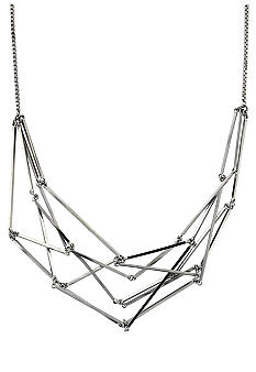 BCBGeneration Beatrix Kiddo Silver Linear Links Necklace