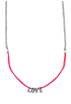 BCBGeneration Pink and Silver Love Mini Affirmation Necklace