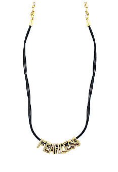 BCBGeneration Gray and Gold Fearless Mini Necklace