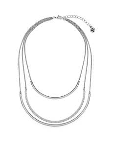 BCBGeneration Tri Layering Metal Collar Necklace