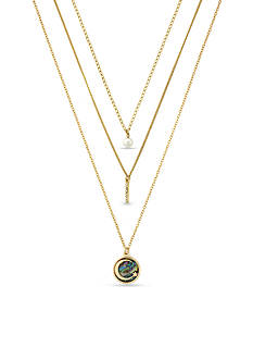 BCBGeneration Gold-Tone Moon Layered Trio Necklace Set