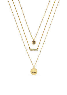 BCBGeneration Gold-Tone Follow Your Heart Layered Necklace