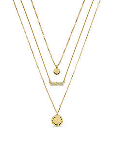 BCBGeneration Gold-Tone Good Vibes Layered Necklace