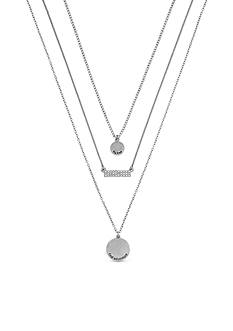 BCBGeneration Silver-Tone Fly Free Layered Necklace