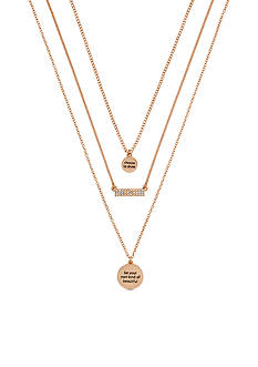 BCBGeneration Rose Gold-Tone Choose To Shine Necklace
