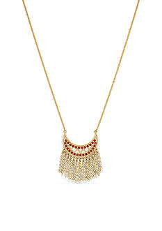 BCBGeneration Gold-Tone Golden Girl Coral Pendant Necklace