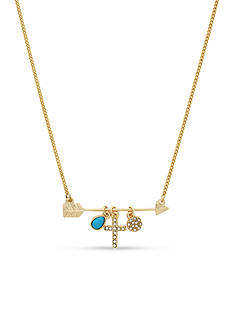 BCBGeneration Gold-Tone Hope Charm Pendant Necklace