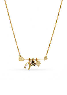 BCBGeneration Gold-Tone Lucky Charm Pendant Necklace
