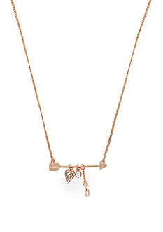 BCBGeneration Rose Gold-Tone XO Charm Pendant Necklace