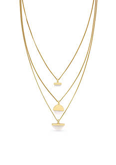 BCBGeneration Gold-Tone She Sells Seashells Layered Necklace