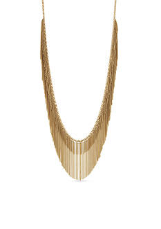 BCBGeneration Gold-Tone Fringe Benefits Statement Necklace
