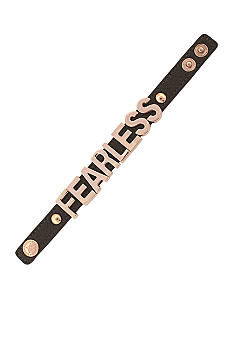 BCBGeneration Gunmetal and Rose Gold Fearless Affirmation Bracelet
