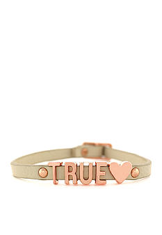 BCBGeneration Nude and Rose Gold True Love Mini Affirmation Bracelet