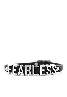BCBGeneration Black and Silver Fearless Mini Affirmation Bracelet