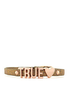 BCBGeneration Gold Glitter True Love Mini Affirmation Bracelet