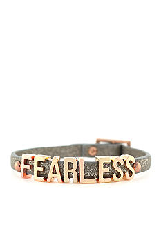 BCBGeneration Platinum Glitter Fearless Mini Affirmation Bracelet