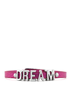 BCBGeneration Pink Glitter and Silver Dream Mini Affirmation Bracelet