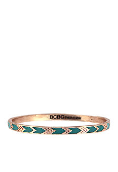 BCBGeneration Rose Gold and Blue Bangle