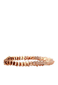 BCBGeneration Rose Gold Apache Pyramid Stretch Bracelet