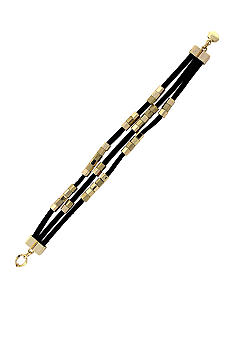 BCBGeneration Black and Gold Cube Bracelet