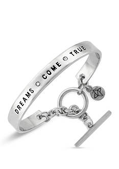 BCBGeneration Silver-Tone Some Dreams Come True Cuff Bracelet
