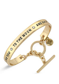 BCBGeneration Gold-Tone Love You To The Moon Cuff Bracelet