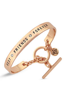 BCBGeneration Rose Gold-Tone Best Friends Forever Cuff Bracelet