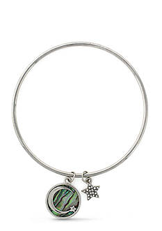 BCBGeneration Silver-Tone Star Shine Bright Bangle Bracelet