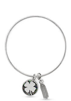 BCBGeneration Silver-Tone Lucky Charm Bangle Bracelet