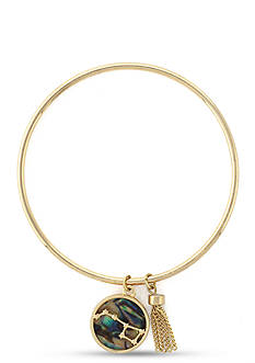 BCBGeneration Gold-Tone Big Dreamer Bangle Bracelet