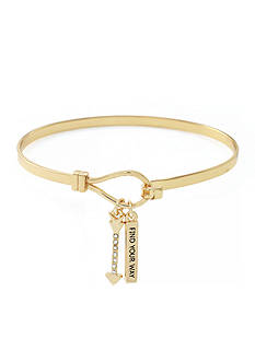 BCBGeneration Gold-Tone Find Your Way Bangle Bracelet