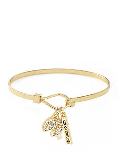 BCBGeneration Gold-Tone Fortune Cookie Charm Bracelet