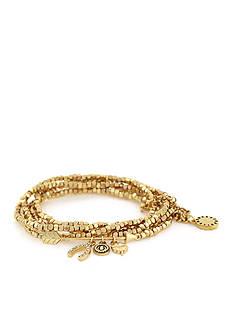 BCBGeneration Gold-Tone Lucky Charm Bracelet