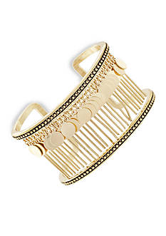BCBGeneration Gold-Tone Golden Girl Fringe Cuff Bracelet