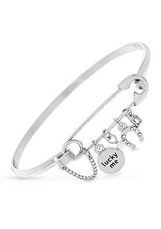 BCBGeneration Silver-Tone Lucky Bangle Bracelet