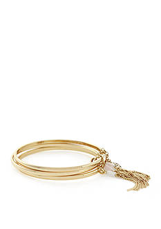 BCBGeneration Gold-Tone Natural Habitat Bangle Bracelet